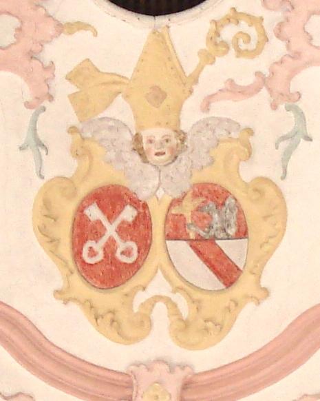 Wappen Kloster Höglwörth in der Pidinger Pfarrkirche